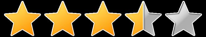 3 een half sterren