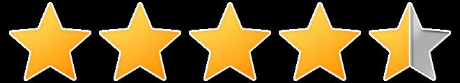 4 en een half sterren